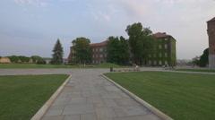Stock Video Footage of Relaxing near the Wawel Royal Castel, Krakow