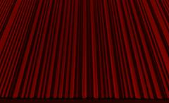 Red curtain in theater. - stock illustration