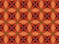 orange color drawing in kaleidoscope pattern - stock illustration