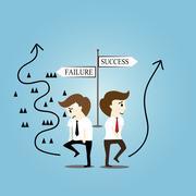 success and failure - stock illustration