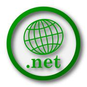.net icon. Internet button on white background.. - stock illustration