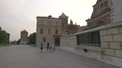 Visiting the Wawel Cathedral and the Cathedral Museum, Krakow Stock Footage