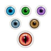 Set of colorful eye balls. Vector illustration Stock Illustration