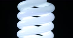 Energy saving fluorescent light bulb Stock Footage