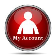 Stock Illustration of My account icon. Internet button on white background..