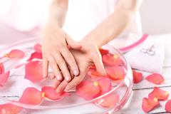 Women's hands, subtle and delicate Stock Photos