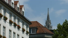 New Town Hall's tower in Munich Stock Footage