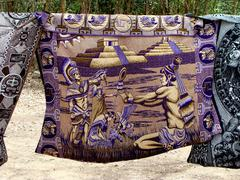 Purple Mexican Tapestry - stock photo