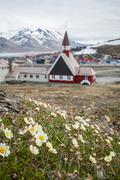 Church in Longyearbyen, Svalbard, Norway Stock Photos
