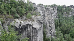 Stock Video Footage of Bastei. Elbe Sandstone Mountains. Saxon Switzerland National Park Germany