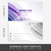 Stock Illustration of Modern abstract business card template or visiting card set