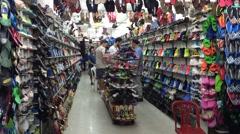Modern shoe shop Stock Footage