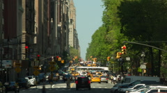 Busy traffic time-lapse from Columbus Circle Manhattan, New York Stock Footage