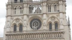 World wide recognizable Notre-Dame Cathedral located in France capital Paris Stock Footage