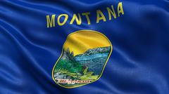 Stock Photo of US state flag of Montana