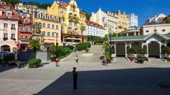 Karlovy Vary (Carlsbad) Czech Republic. Stock Footage