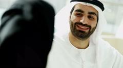 Business male female Arab teamwork Dubai real estate finance banking wealth Stock Footage
