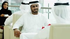 business male female teamwork national dress Dubai financial real estate wealth - stock footage
