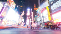 Times Square time lapse looking down 7th Ave. Cropped. Stock Footage