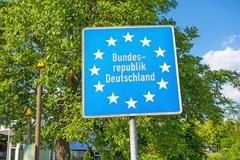 Sign Europe / Bundesrepublik Deutschland - stock photo
