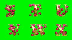 Heart green 4 Stock Footage
