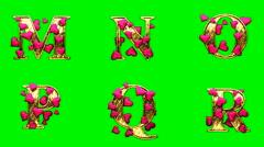 Heart green 3 Stock Footage