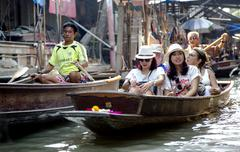 Damnoen Saduak Floating Market in Bangkok Stock Photos