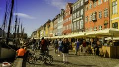 Nyhavn Copenhagen Denmark 3 Stock Footage