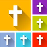Christian cross icons Stock Illustration