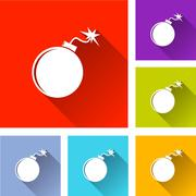 Bomb icons Stock Illustration