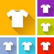 Tee shirt icons Stock Illustration