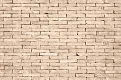 The pattern of yellow brick wall Stock Photos