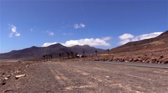 Mountains of  Fuerteventura in the area Jandia Stock Footage