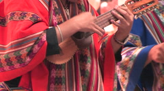 Traditional Music in Cuzco, Peru - stock footage