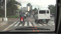 Riding down Manilla, Philippines Highways Stock Footage