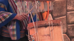Stock Video Footage of Band plays traditional music in Cuzco, Peru