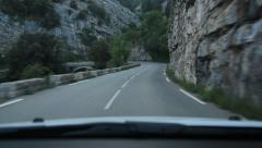 Driving on mountain road from Gourdon. Alpes-Maritimes, France. Stock Footage