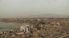 Beautiful Skyline of Lima, Peru at Dusk - stock footage