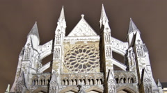Time-lapse of Westminster Abbey in London. Cropped. Stock Footage