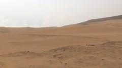 Peruvian Desert Sand Dunes Stock Footage