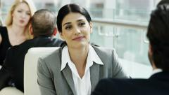 Western Caucasian female male business insurance economy trade growth commodity - stock footage