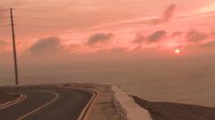 Stock Video Footage of Beautiful Lima Peru at Sunset