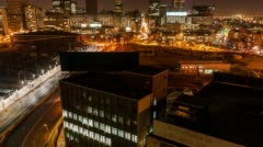 The city centre of Johannesburg Stock Footage