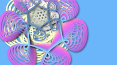 Digital generated patterns evolving and changing like micro-organism - stock footage
