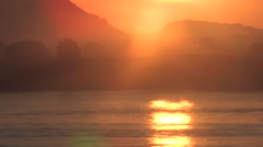 Sunset Over The Blue Nile, South Sudan Stock Footage