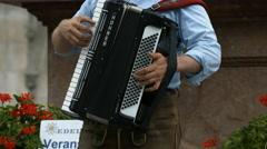 Playing an accordion in Marienplatz, Munich Stock Footage