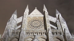 Time-lapse of the North Entrance of Westminster Abbey in London. Cropped. Stock Footage