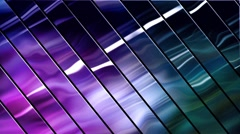 Abstract loop striped background, light patches on the metal  Stock Footage
