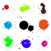 Colored blobs set - stock illustration