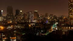 Ponte Towers and the city centre of Johannesburg Stock Footage